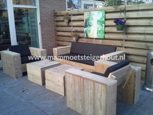 Steigerhout Loungeset Mantua