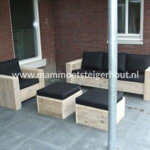Steigerhout Loungeset Trapani