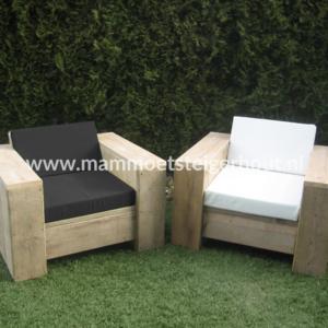 Steigerhout Loungestoel Noto