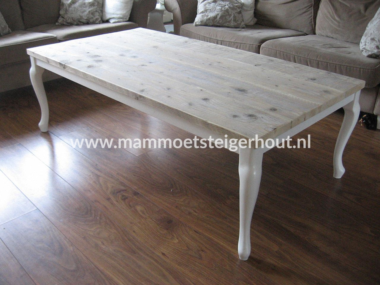 Queen Ann Tafelblad.Steigerhout Salon Tafel Queen Ann